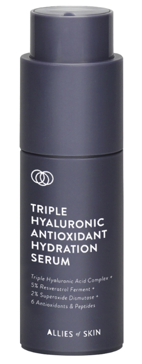 Allies of Skin Triple Hyaluronic Antioxidant Hydration Serum увлажняющая сыворотка 30мл