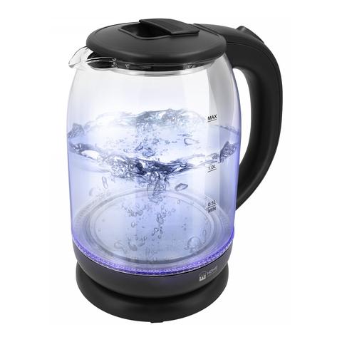 Чайник стеклянный HOME ELEMENT HE-KT187 черный жемчуг