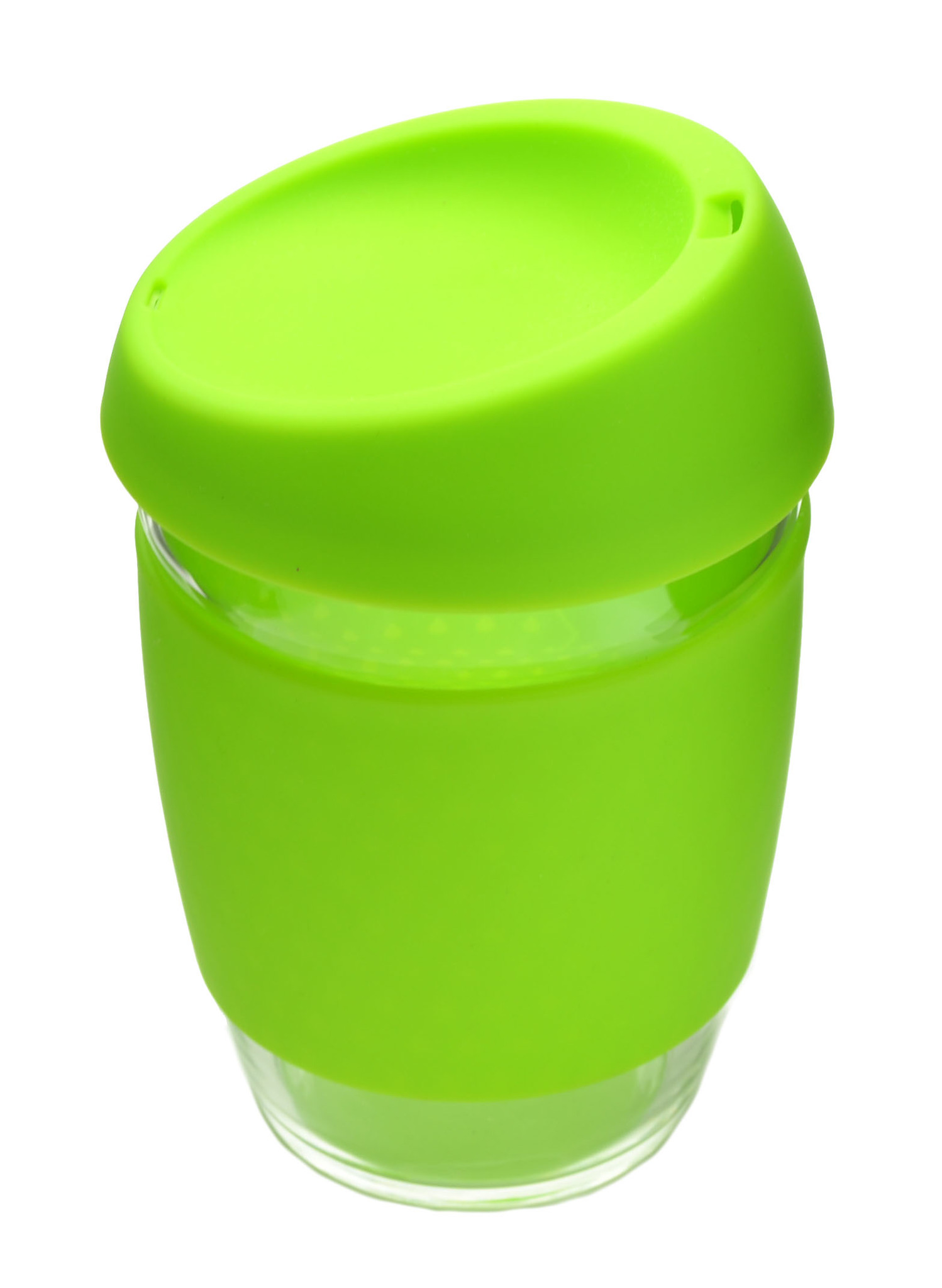 Кружка Coffee Cup из боросиликатного стекла 340 мл. салатовый
