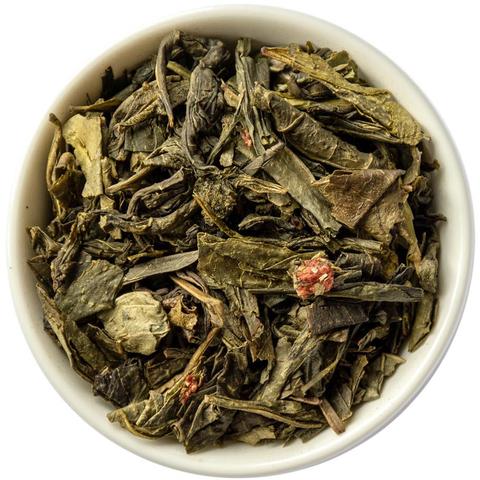 Зеленый чай с земляникой