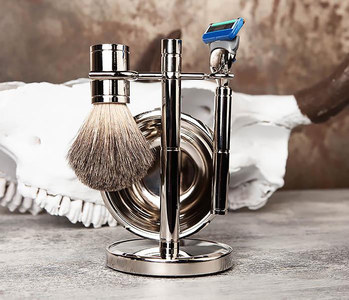 RAZ405 Набор для бритья: чаша, помазок, безопасная бритва фото 03