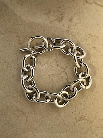 Браслет Чэйн, серебряный цвет