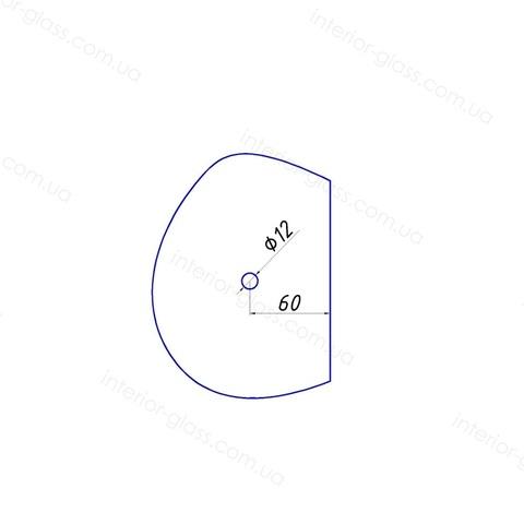 Ручка кноб для душевых кабин HDL-691-AL CP