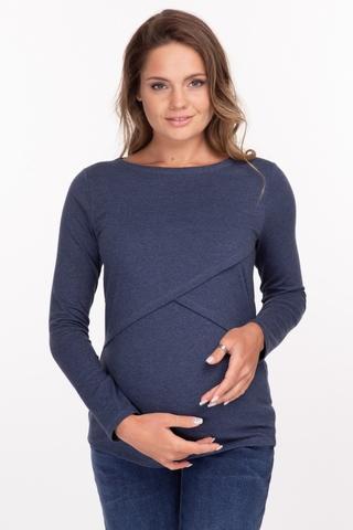 Лонгслив для беременных и кормящих 11917 индиго