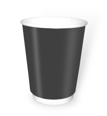 Стакан бумажный 2сл 250 (273) мл d=80мм черный