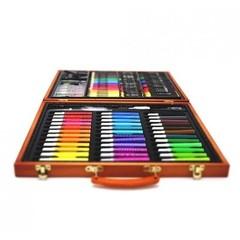 Художественный набор для детского творчества в деревянном чемоданчике, 150 предметов