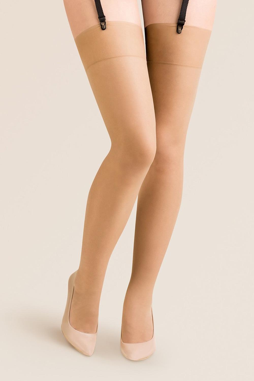 Чулки Gabriella Cher Plus Size 15 den под пояс телесные