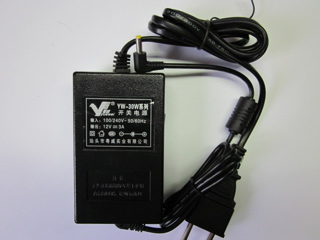 YW-30W, +12V, 3A адаптер сетевой 4,0x1,5mm