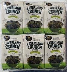 Снеки из морской капусты со вкусом васаби Laverland crunch wasabi,4,5гр. (192 шт.)