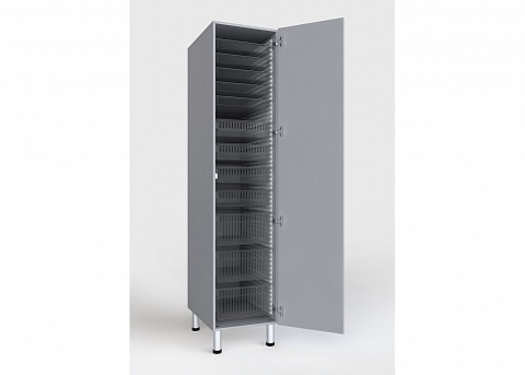 Шкаф медицинский с лотками и корзинами стандарта ISO, БТ-ШЛ-45 - фото