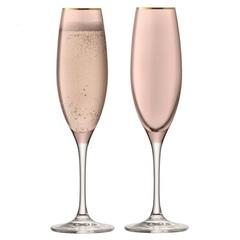 Набор из 2 бокалов флейт для шампанского Sorbet, 225 мл, коричневый, фото 1