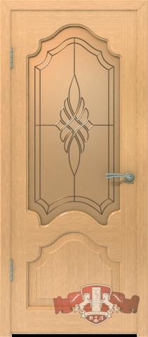 Дверь 11ДО1 (светлый дуб, остекленная шпонированная), фабрика Владимирская фабрика дверей