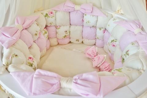 Комплект в круглую/овальную кроватки Шебби