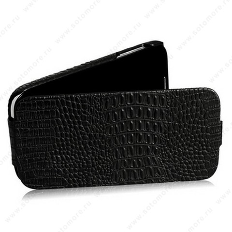 Чехол-флип Borofone для Samsung Galaxy S4 i9500/ i9505 - Borofone Crocodile Leather case Black