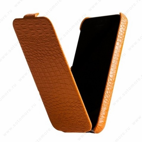 Чехол-флип Borofone для iPhone 5C - Borofone Crocodile Flip case Image series Orange