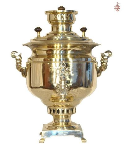 Самовар антикварный Чашей гладкий 7 л медальный угольный луженый