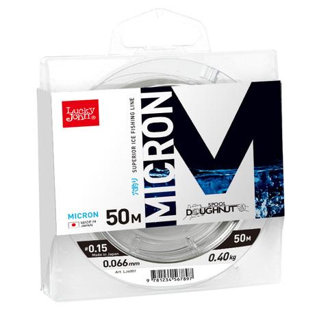 Леска монофильная LUCKY JOHN Micron, зимняя, 50 м - 0.066 мм, прозрачная