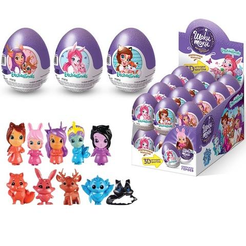 ШОКИ-ТОКИ ENCHANTIMALS Шоколадное яйцо с игрушкой 1кор*6бл*24шт, 20г.