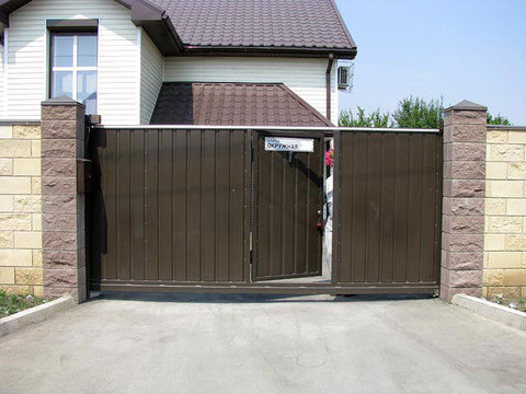 Откатные ворота 4 х 2