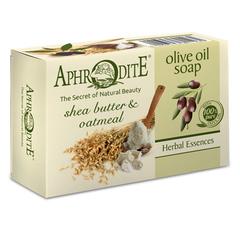 Оливковое скраб-мыло с маслом дерева ши и овсянкой, Aphrodite