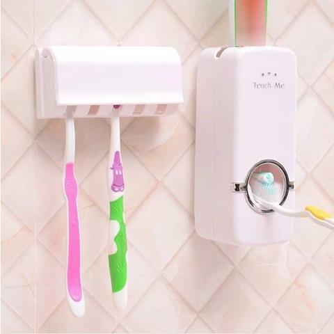 Автоматический диспенсер для зубной пасты Дозатор с держателем щёток