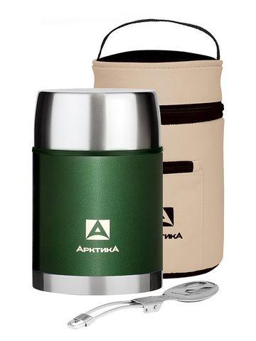 Термос для еды Арктика (1 литр) с супер-широким горлом, зеленый