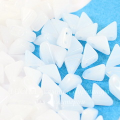 Бусина Tango Треугольник с 2 отверстиями, 6 мм, белая глянцевая
