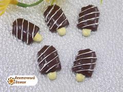 Пластиковый декор Эскимо на палочке шоколадное