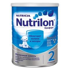 Смесь Nutrilon КОМФОРТ 2,   800 г с 6 месяцев CAN (METAL)