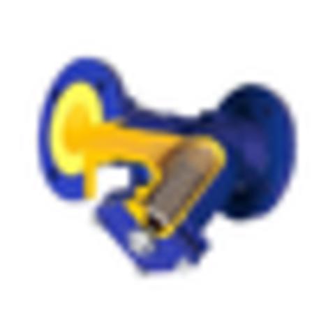 Фильтр магнитный сетчатый Y-образный чугун Ду 125 Ру16 Тмакс=300 oC фл 821А со сливной пробкой Zetkama 821A125C63
