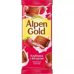 """Шоколад """"Alpen Gold"""" клубника с йогуртом 90г"""
