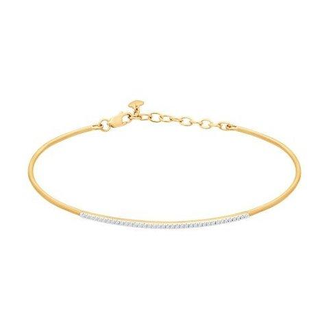 1050085 - Браслет жёсткий из золота с бриллиантами