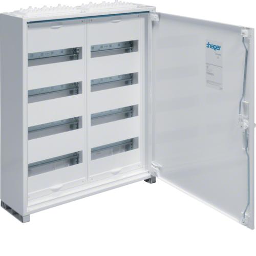 Щиток открытой установки,секционный,с оснасткой,IP44,650x550x161мм (ВхШхГ),одна дверь,RAL9010