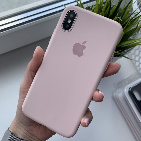 Чехол iPhone X Silicone Slim Case /pink sand/