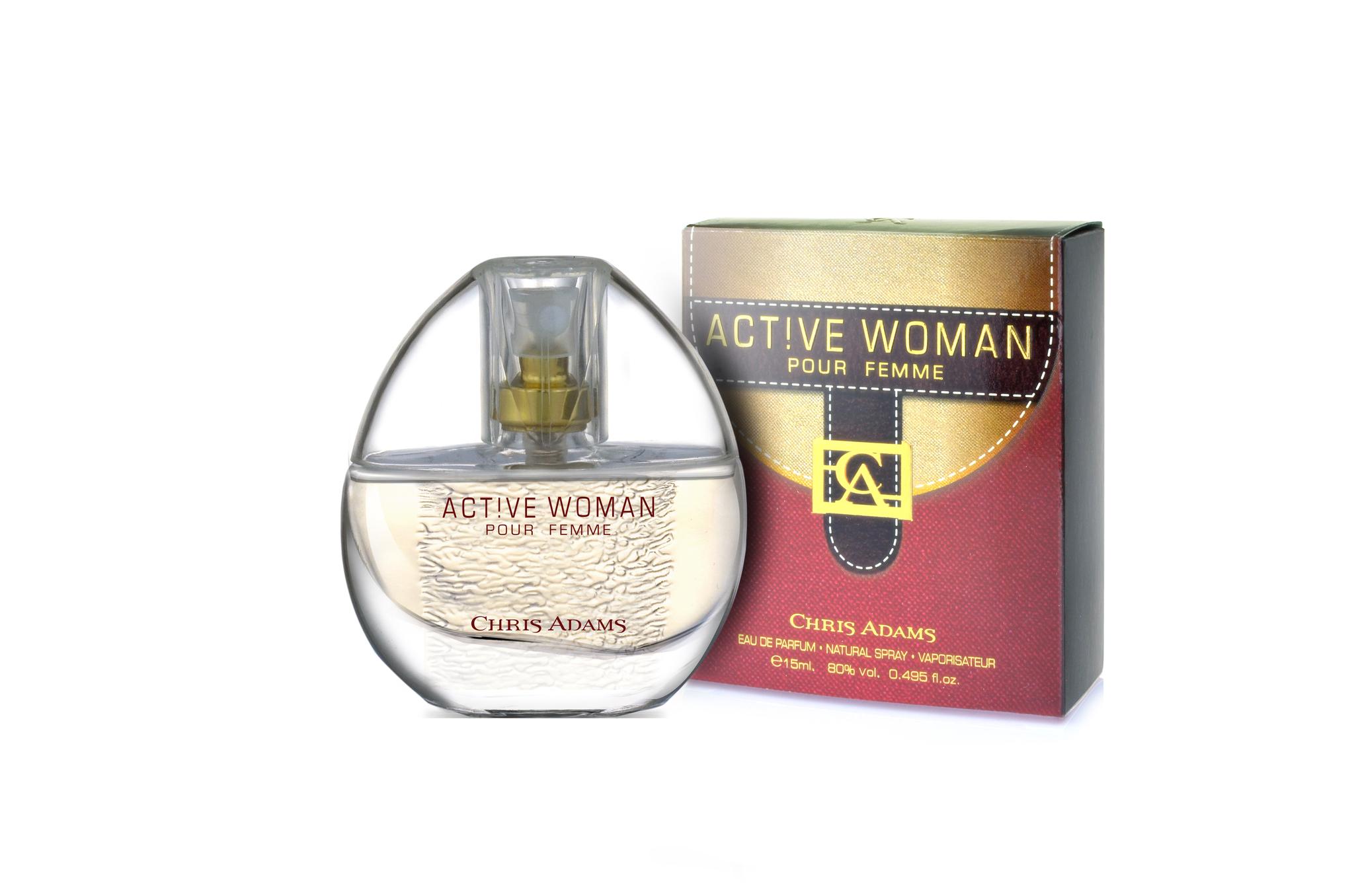 Chris Adams Женский Active Woman Парфюмерная вода 15 мл