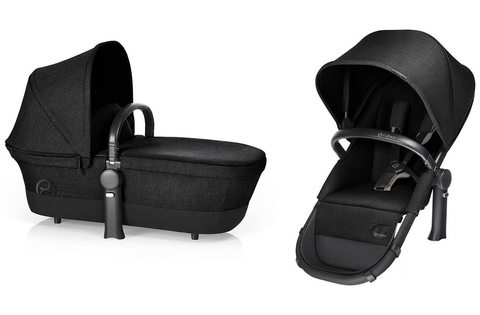 Коляска 2 в 1 Cybex Priam Light Seat RB Happy Black