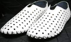 Летние мужские мокасины Luciano Bellini 107704 White.