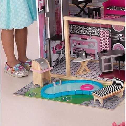 KidKraft: Большой кукольный дом Сияние с мебелью 65826 — Sparkle mansion barbie dollhouse — КидКрафт