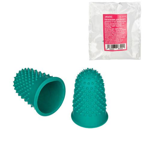 Напальчник для бумаги резиновый зеленый (диаметр 18 мм, высота 33 мм)