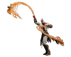 Год оф Вар Кратос — God of War Kratos With Flaming Blades Of Ath