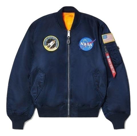 Бомбер Alpha Industries MA-1 NASA Rep. Blue (Синий)