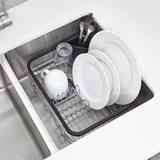 Сушилка кухонная настольная для посуды и столовых приборов SINKIN чёрный-никель Umbra 1004292-047 | Купить в Москве, СПб и с доставкой по всей России | Интернет магазин www.Kitchen-Devices.ru