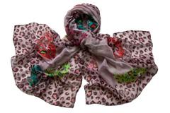 Парео розовое с леопардовым принтом 0328 PAL 2