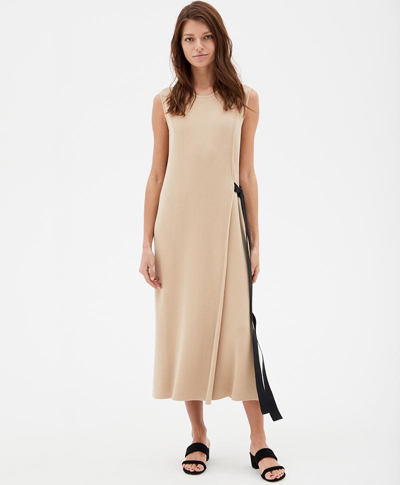 Платье Талби бежевое