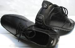 Кожаные мокасины мужские Ikoc 112-1Black