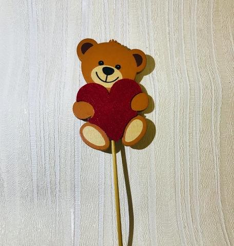 Медвеженок на вставке (дерево), 7,5xH50см