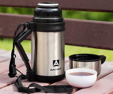 Термос универсальный (для еды и напитков) Арктика (0,8 литра) с широким горлом, стальной
