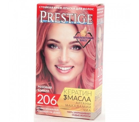 Краска для волос Prestige 206  -  Розовый коралл