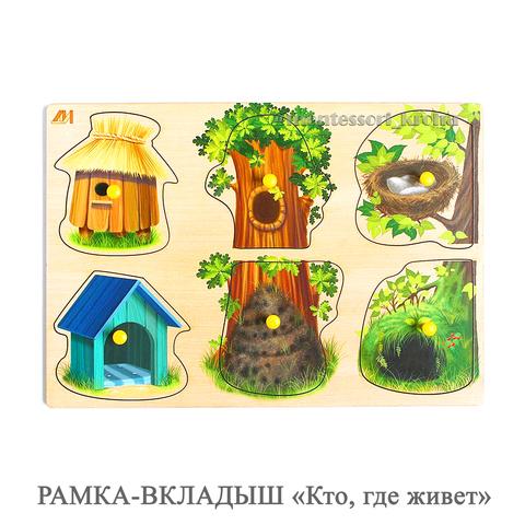 РАМКА - ВКЛАДЫШ «Кто, где живет?»