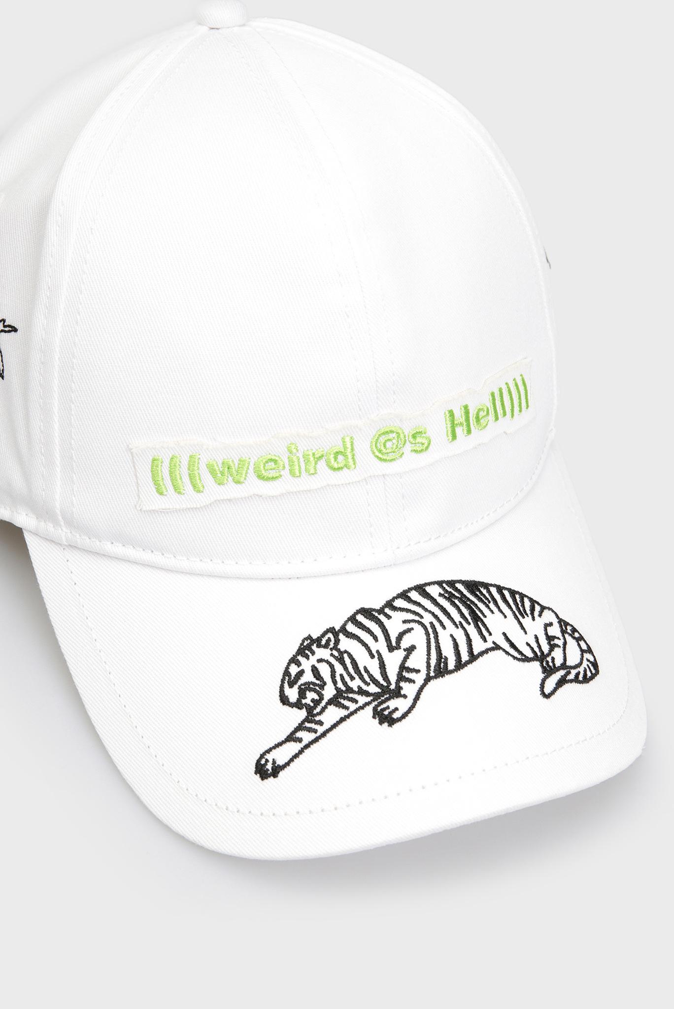Белая кепка COTIGRE Diesel